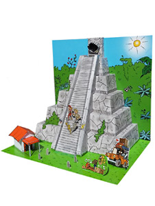 Diorama Marsupilami : La pyramide