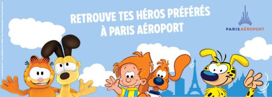 Retrouvez Marsupilami à Paris-Charles de Gaulle et Paris-Orly